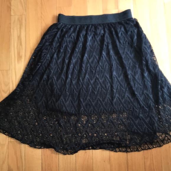 Lularoe Lola skirt. Black lace. Large
